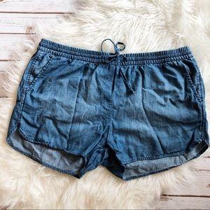 GAP drawstring denim shorts size large